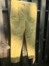 Wedge & Wood By Asher Yellow Flannel Men's Vintage Golf Pants See Measurements