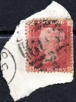 1868 SG 43 1d rose-red 'AC' Plate 106 with 603 Oxford Duplex Cancellation