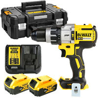 DeWalt DCD996 18v Brushless Combi Drill With 2 x 5Ah Batteries, Charger & Case