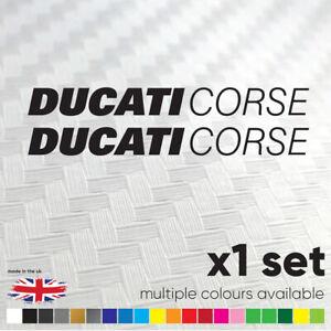 DUCATI CORSE Decals / Stickers Motorbike Racing Motorcycle Tank Fairing 150mm
