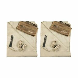 Gear Aid McNett Tactical Ultra Compact Microfiber Towel Sand Brown Large(2-PACK)