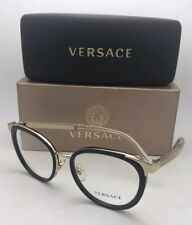 fafd6c18ee New VERSACE Rx-able Eyeglasses MOD.1249 1252 52-18 140 Black Gold