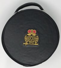 New Scottish Rite 33rd Degree Cap Case In Black with Emblem