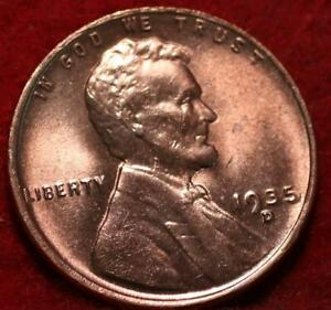 Uncirculated Red 1935-D Denver Mint Copper Lincoln Wheat Cent