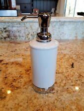 InterDesign 70201 York Soap/Lotion Pump, White, Ceramic/Chrome