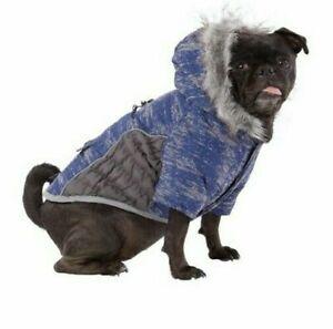 Top Paw Dog Hooded Winter Coat Blue/Pink XS-XXL Waterproof Warm Ultra Reflective