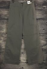New York & Company Gray Chino Trouser Mid Rise Wide Leg Sz 4 Ave *READ*