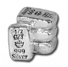 Hand Poured MPM Mint Mini Loaf 1/2 oz .999 Fine Silver USA Made Bullion Bar