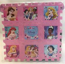 Disney Princess 9 Piece soft 9 x 9 Form Play Mat Puzzle Fun And Useful New