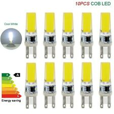 10 x G9 LED bulbs COB 5W chip bead lights dimmable pack capsule 220V cold white