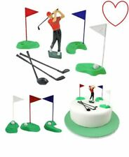 Golf Plastic Decorations Cake Picks Birthday Topper