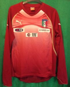 Italy National Football Puma Player Worn Long Sleeve Training Shirt Top Medium