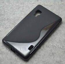 New Black Skidproof Rubber Gel skin Case cover For LG Optimus L5ii E450 E460