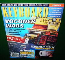 KEYBOARD Vocoders, CHICANE, Clare Fischer, E-mu B-3 Xtreme Lead-1, 2000 Magazine