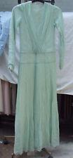Lovely Mint Green Sequin Full Length Evening Gown Long Maxi Eve Dress UK 8
