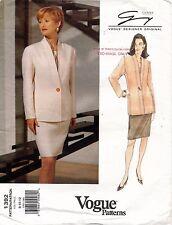 VOGUE Designer Orig. Genny  Misses' Jacket & Skirt Pattern 1392 Size 8-12 UNCUT