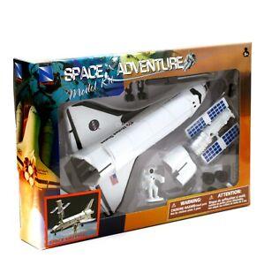 NASA Space Shuttle Model Kit 1:48 New-Ray Space Adventure w/ Satellite Astronaut