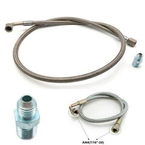 "1x Aluminum 24"" Car Modified Turbo Oil Feed Line Kit Built in Oil Restrictor"