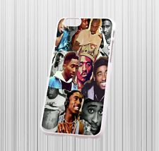 for iPhone 6 hard case cover - Tupac Shakur collage - case color - white