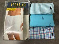NEW Polo Ralph Lauren Men's M,L,XL 3-Pack Woven Boxers Blue All over Pony Plaid
