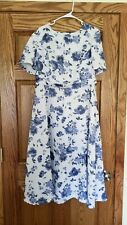 Blue Floral Women's Mennonite Dress Modest Handmade New other