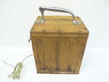 Old Plywood Brass Homemade Dynamic Ignition Box Detonator Crank Demolition Tool