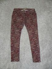 Romeo & Juliet Couture Jeans Brown Multi-Color Womens size 24 Inseam 29 NWT $165