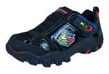 Chaussures noirs moyens à attache auto-agrippant pour garçon de 2 à 16 ans