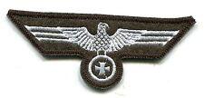 WWII German Heer Army Breast Eagle Iron Cross White on Field Grey Wool