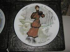 Colette 1890 D'Arceau Limoges France Collector Plate Women Century Ganeau 1976 B