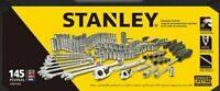 Auto Mechanics Tool Set 145 Piece Kit ³/⁸Sockets Ratchet NutDriver Wrenches New