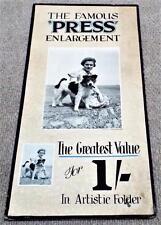 More details for 1930's chemist pharmacy shop famous press enlargement photograph advertisement