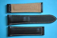 Bracelet de montre 24mm en particulier pour BREITLING faltschl 20mm Noir