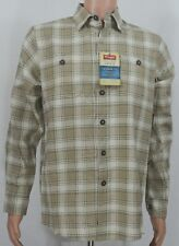 Wrangler #4477 NEW Men's Small Plaid Relaxed Fit 100% Cotton Button Front Shirt