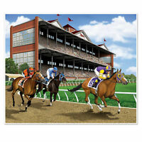 HORSE RACING MURAL SCENE SETTER MELBOURNE CUP SPRING CARNIVAL PARTY DECORATION