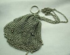 Beautiful Antique Small Sterling Silver Mesh Purse