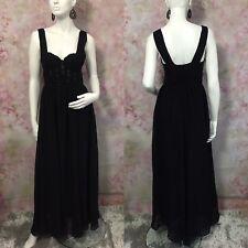 * H&M * BLACK EVENING DRESS SIZE UK 10 EUR 36  ( Q19 )
