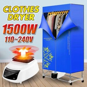 Heated Clothes Horse Dryer Indoor Electric Laundry Airer Dryer Hot Air Fan NEW