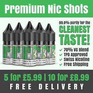 Nic Shots | 10ml | 18mg | 70VG | Premium Swiss Nicotine | Made in the UK