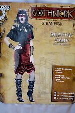 Halloween Women's Costume Gothwork Steampunk Shadow Vamp Size Large 12-14 Multi-