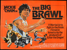 BIG BRAWL 1980 Jackie Chan, José Ferrer, Mako MARTIAL ARTS UK QUAD POSTER