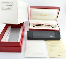 Orig. CARTIER Eye Frame T8100632 Jewelry Platine Rimless 50-16 130 mm France NEW