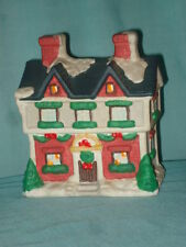 Ceramic Christmas Village Model Railroad House Snow Covered Roof