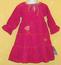 NWT Two Turtle Doves Sweet Potatoe Pink Corduroy Flower Tiered Swing Dress 2T