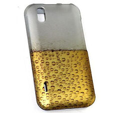 For Alltel LG Ignite Rubberized HARD Protector Case Snap on Phone Cover Beer