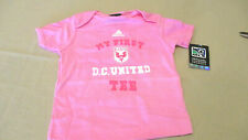 """NWT DC United """"My First DC United """" pink t-shirt MLS 18 Months 18M soccer"""