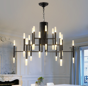 Glass Branch Chandelier Metal Pendant Light Industrial Ceiling Fixtures Modern