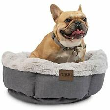 Pet Craft Machine Washable Memory Foam Donut Cuddler Calming Style Small Dog Bed