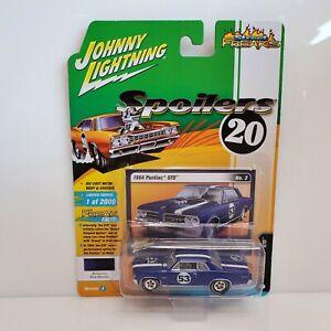 Rare Johnny Lightning Spoilers 64 Pontiac GTO White Lightning Chase Blue 1 Of 40
