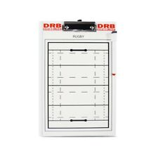 Rugby Tactical Board | Front Full Field Midfield Back Size 25x35 Cm Marker+Clip